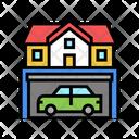 Home Garage House Garage Icon