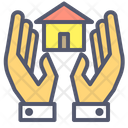 Home Insurance Home Care Hand Icon