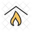Insurance Home Fire Icon