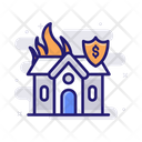 Fire Home Insurance Icon