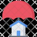 Insurance Umbrella Building Icon