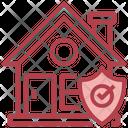 Home Insurance Real Estate Padlock Icon