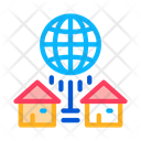 Houses Internet Connection Icon