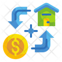 Loan Money Property Icon
