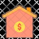 Home Loan Cash Borrow Money Icon