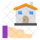 Hand House Building Icon