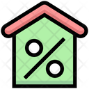 Home Loan House Percentage House Sell Icon