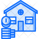 Money Coin Building Icon