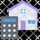 Calculator Building House Icon