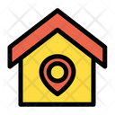 Home House Location Pin Icon
