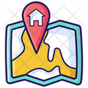 Home Location Navigation House Location Icon
