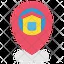 Quarantine Stayhome Geotag Home Icon