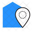 Button Geolocation Building Icon