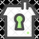 Lock House Isolation Icon