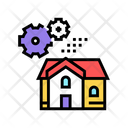 House Mechanical Gears Icon