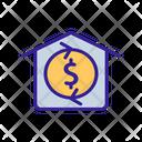 Building Sale Contour Icon