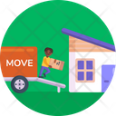 Moving Export Icon