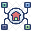 Home Network House Network Smart Home Icon
