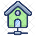 Home Network Smart House House Network Icon