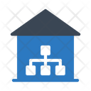 Network Connection House Icon