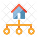 Home Network Structure Icon