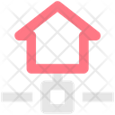Home Network Smart Home House Network Icon