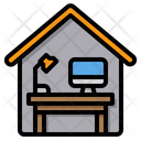 Home Office Working At Home Desk Icon