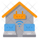 Home Office Working At Home Wifi Icon