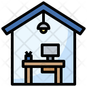 Home Office Work From Home Chair Icon