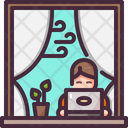 Home On Window Icon