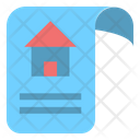 News Paper House Icon