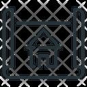 Architect Blueprint Design Icon