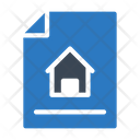 Blueprint Architecture House Icon