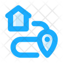 Route Address Direction Icon