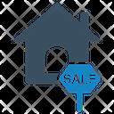 Home Sale Sign Sign Board Icon