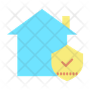 Home Security Approved Shield Secure Home Icon