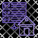 Server Database House Icon