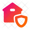 Home Shield Home Security House Icon