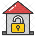Unlock Home Security Icon