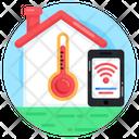 Smarthome Temperature Home Temperature Smart Home Icon