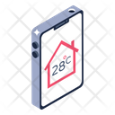 House Temperature Application Home Temperature App Mobile Application Icon