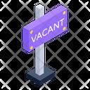 Home Vacancy Board Vacant Board Sign Board Icon