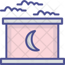 Home With Moon Icon