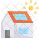 Home With Solar Panel Icon