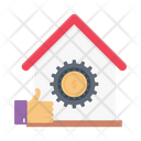 Office Home Working Icon