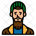 Homeless Old Man Icon