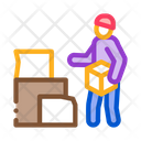 Homeless Cardboard Boxes Icon