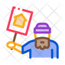 Homeless Nameplate House Icon