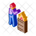Homeless Warming Flame Icon