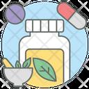 Homeopathy Medicine Pills Jar Icon